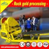 Завод по обработке золота утеса низкой стоимости с дробилкой челюсти, молотковой дробилкой и таблицей трястить