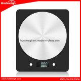 Escala retroiluminada 5000g/1g da cozinha da plataforma do aço inoxidável dos sensores do LCD 4