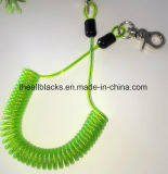 保護W/Snapのための強い引き込み式の螺線形ロープ釣タックル安全ロープはS-056を引っ掛ける