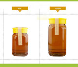 Wide Mouth Round 500ml 1000ml Vidros transparentes Bee Honey Bottles