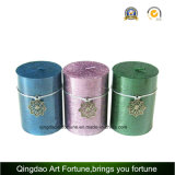 Metalic Finish Silver Pillar Candle for Home Decoration