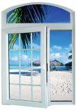 Europäischer Standard erstklassiges doppeltes glasig-glänzendes Belüftung-Flügelfenster-Glasfenster mit gewölbter Oberseite (PCW-007)