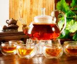 Potenciômetro de vidro do Kitchenware de vidro bonito do jogo de chá do projeto com filtro
