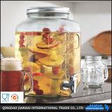 produtos vidreiros de vidro do frasco do mel de 300ml Hexgonal
