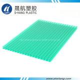 Feuille en plastique de polycarbonate creux de qualité avec l'enduit UV