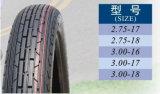 Neumático sin tubo de la talla 2.75-18 de China para la motocicleta