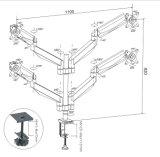 Montaje de escritorio de la elevación de gas (LCD 3004)