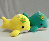 Os animais de mar encheram o brinquedo macio do luxuoso dos peixes de arco-íris para a venda por atacado