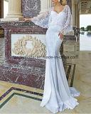 Vestidos nupciais novos Z2044 do tafetá dos vestidos de casamento da luva do Batwing do laço