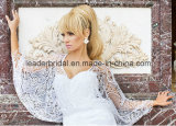 Платья Z2044 тафты мантий венчания втулки Batwing шнурка новые Bridal