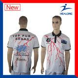 Healong heißer Verkaufs-volles Sublimationmens-Polo-Hemd