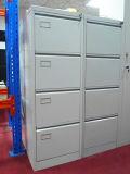 Ficheiro cinzento da gaveta do vertical 3 da cor do fornecedor de aço da mobília