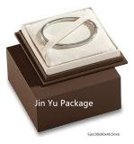 Rectángulo de joyería hecho a mano de lujo del regalo del cuadrado del papel del color del chocolate