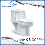 Washdown 1-Piece Single Flash Round Front Bowl Toilet (ACT5017)