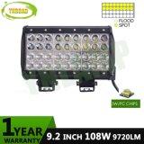 4 줄 9.2inch 108W 크리 사람 LED 결합 일 표시등 막대