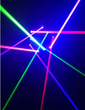 9 yeux RVB/laser principal mobile vert simple de disco