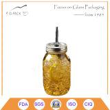 ハンドルのない熱い販売のガラス石大工の飲む瓶