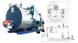 Caldera de vapor de gas natural industrial automática del gasoil del tubo de fuego