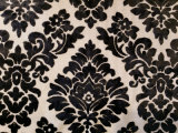 Tela clásica de lujo del sofá de la tapicería del terciopelo de la pila del corte del negro del damasco