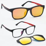Grampo conservado em estoque por atacado novo de Utum nos óculos de sol Tj003 da forma dos Ótico-Óculos de sol