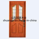 Portes en bois intérieures de luxe d'entrée composée