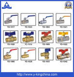 High Quality Brass Compression Ball Valve with FF Ends (YD-1044)