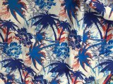 각종 코코넛나무 Beachwear 셔츠 간결은 복숭아 폴리에스테 직물을 인쇄했다