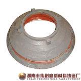 高いマンガン鋼鉄Metso HP300の円錐形の粉砕機ボールはさみ金
