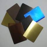 201 feuille décorative d'acier inoxydable de couleur de noir de Ti de 304 miroirs