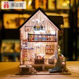 3D игрушка модельной дома головоломки DIY деревянная с мебелью