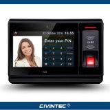 Controllo di accesso biometrico Android di presenza di tempo dell'impronta digitale di RFID con stampa di marchio dell'OEM del TCP/IP