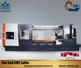 Maquinaria del torno de la base plana del CNC de la alta calidad con el oscilación máximo de 1000m m sobre base
