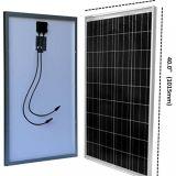 poly panneau solaire de 12V 80W pour le système d'alimentation solaire