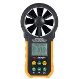 Anemómetro y humedad y temperatura Hygrothermograph de Peakmeter Ms6252b Digitaces