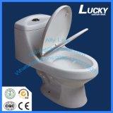Diseño clásico Siphonic Inodoro de una pieza de cerámica WC Sanitario Armario