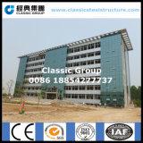 Structure métallique de bureau à plusiers étages de construction avec le rideau en verre
