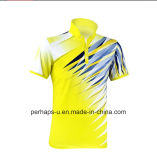 Schnelles-Drying Unisex Badminton Polo Shirt mit Sublimation Print