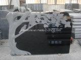 Ирландия Styple черного гранита Надгробная плита (JL-TM)