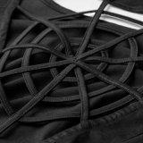 Sleeves gotische Web-Entwurfs-Spitze des Armkreuz-Q-328 reizvolles Frauen-Cocktailkleid