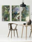 Pintura da arte da decoração do estúdio com frame da madeira contínua