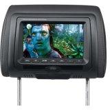 Poggiacapo DVD dell'automobile 7 pollici con il trasmettitore di deviazione standard FM e di IR del USB ed i giochi senza fili