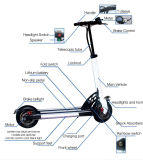 Bicicleta eléctrica de bolsillo con 400W cubo del motor