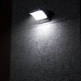 des Höhepunkt-1000lm wasserdichte Garten-Wand-Sicherheits-Lampe Mikrowellen-Radar-Solarbewegungs-des Fühler-LED helle