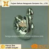 Vela de prata de Tealight do flamingo para a decoração da remoção de ervas daninhas