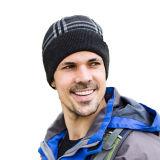 Слой Mens двойной проверил шлем Beanies крышек катаясь на лыжах теплой связанный зимой катаясь на коньках (HW408)