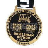 カスタマイズされたエナメル選手権のダンス音楽の金属はスポーツのMedalingメダル円形浮彫りのWitnのリボンを与える