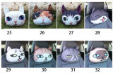 подушка заголовника автомобиля собаки кота подушки 3D собаки кота 3D