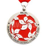 Kundenspezifisches Decklack-Meisterschaft-Tanzmusik-Metall spricht Sport Medaling Medaillen-Medaillon Witn Farbband zu