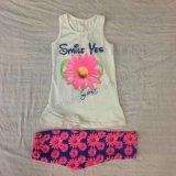 Het Meisje van de Baby van de Jonge geitjes van de zomer past Kleren voor Kinderen aan die Slijtage sq-6671 kleden