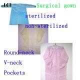 Fornecedor não tecido descartável estéril Kxt-Sg08 do vestido cirúrgico de SMS